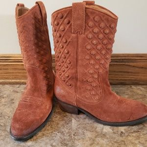 Lucky Brand Madonna Studded Suede Boots